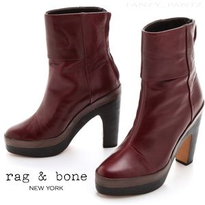 rag & bone newbury platform boot 7 leather heel